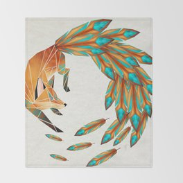 fox circle Throw Blanket