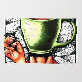 coffee head Rug