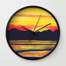 Salish Sea Sunset Wall Clock