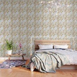 Luxe bright golden Wallpaper