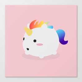 Kawaii rainbow fattycorn Canvas Print