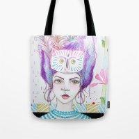 arya stark Tote Bags featuring Arya by ChristyAnne