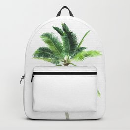 Watercolor palm tree print Backpack