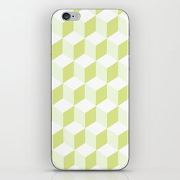Diamond Repeating Pattern In Almond Buff and Grey iPhone Skin