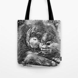 AnimalArtBW_OrangUtan_20170603_by_JAMColors-Special Tote Bag