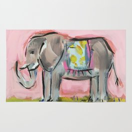 Elated Elephant Rug