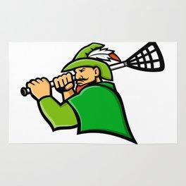 Archer Lacrosse Sport Mascot Rug