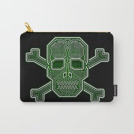 Hacker Skull Crossbones (isolated version) Carry-All Pouch