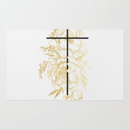 Floral Cross Rug