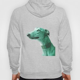 Green Greyhound. Pop Art portrait. Hoody