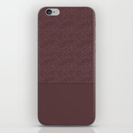 Warm , chocolate brown solid pattern . Chocolate . iPhone Skin