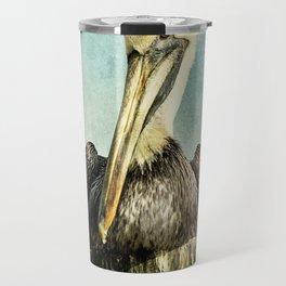 Brown Pelican Art Travel Mug