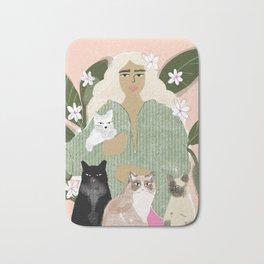 Cat Mom Bath Mat
