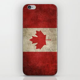 Old and Worn Distressed Vintage Flag of Canada iPhone Skin