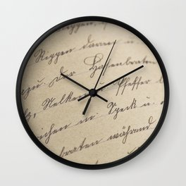 Scripted Wall Clock