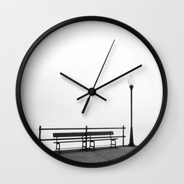 Pier in Early Spring, No. 2 Wall Clock