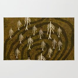 Ethnic 4 Canary Islands / Crowd in the Maze Rug