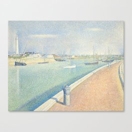 The Channel of Gravelines, Georges Seurat Canvas Print