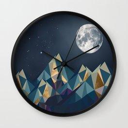 Night Mountains No. 1 Wall Clock