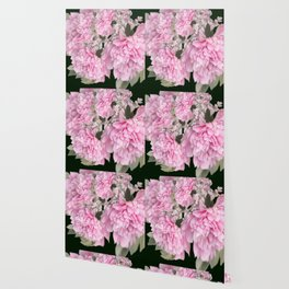 Pink Bouquet On A Black Background  #society6 #buyart Wallpaper