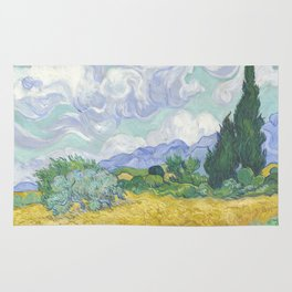 Vincent van Gogh - Wheat Field With Cypresses Rug
