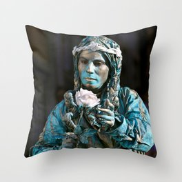 live statue Throw Pillow