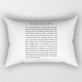 The Man In The Arena by Theodore Roosevelt Rectangular Pillow
