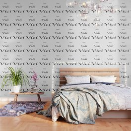 Veni Vidi Vici White Wallpaper