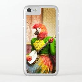 Banjo Birdy Plucks a Pretty Tune! Clear iPhone Case