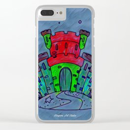 Mermaid Castle 21 Clear iPhone Case