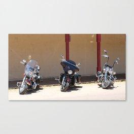 Motorcycle Parade Canvas Print