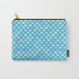 Blue Mermaid Scales Carry-All Pouch
