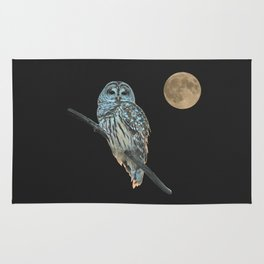 Owl, See the Moon Rug