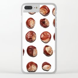Conkers in a Row Clear iPhone Case