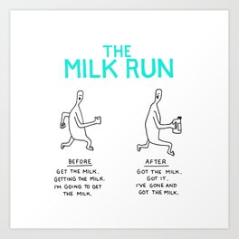 The Milk Run Art Print