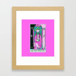 2. The High Priestess- Neon Dreams Tarot Framed Art Print