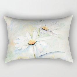 White Daisies Rectangular Pillow