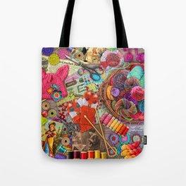 Vintage Yarn & Thread Tote Bag