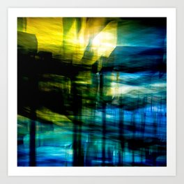 Light in Blue Art Print