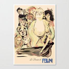 Le Donne di Fellini Canvas Print