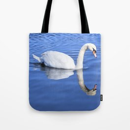 A Swan's Mirror Tote Bag
