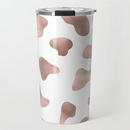 Rose gold cow print Travel Mug