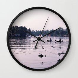 Sunrise Fishing Wall Clock