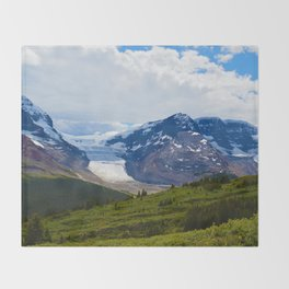 View along the Wilcox Pass Hike in Jasper National Park, Canada Throw Blanket