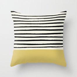 Daffodil Yellow x Stripes Throw Pillow