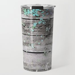 Planks and leaves Travel Mug