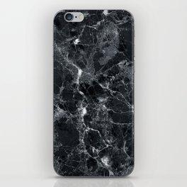 Black marble texture iPhone Skin
