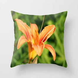Sunny Lily Throw Pillow