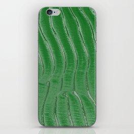 Green velvet iPhone Skin