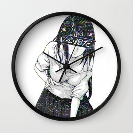 CONCENTRATE - SAD JAPANESE ANIME AESTHETIC Wall Clock